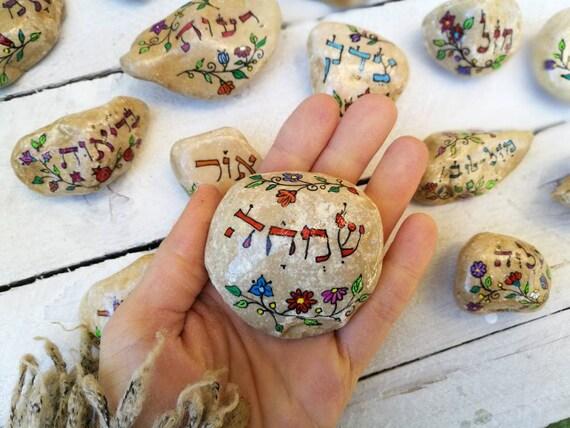 4 inspirierende Botschaft Steine Gruß Steine Felsen gemalt | Etsy