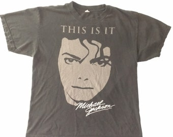 the best attitude 74cfe 4baed Very Rare Michael Jackson This Is It T Shirt (XL)