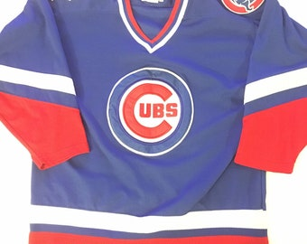 ffd5e37562c Vintage Chicago Cubs Vintage Hockey Jersey Genuine Merchandise by STARTER  Size (L) hockey  chicago  cubs