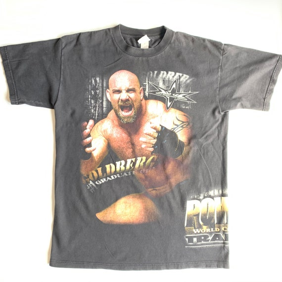 Very Rare vintage WCW Goldberg 1999 T Shirt (L)