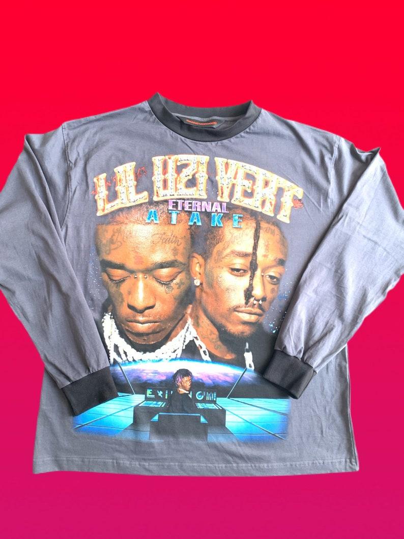 Very Rare Brand New 90s inspired Lil Uzi Vert Morino Morwood Long-sleeve Rap T Shirt XL