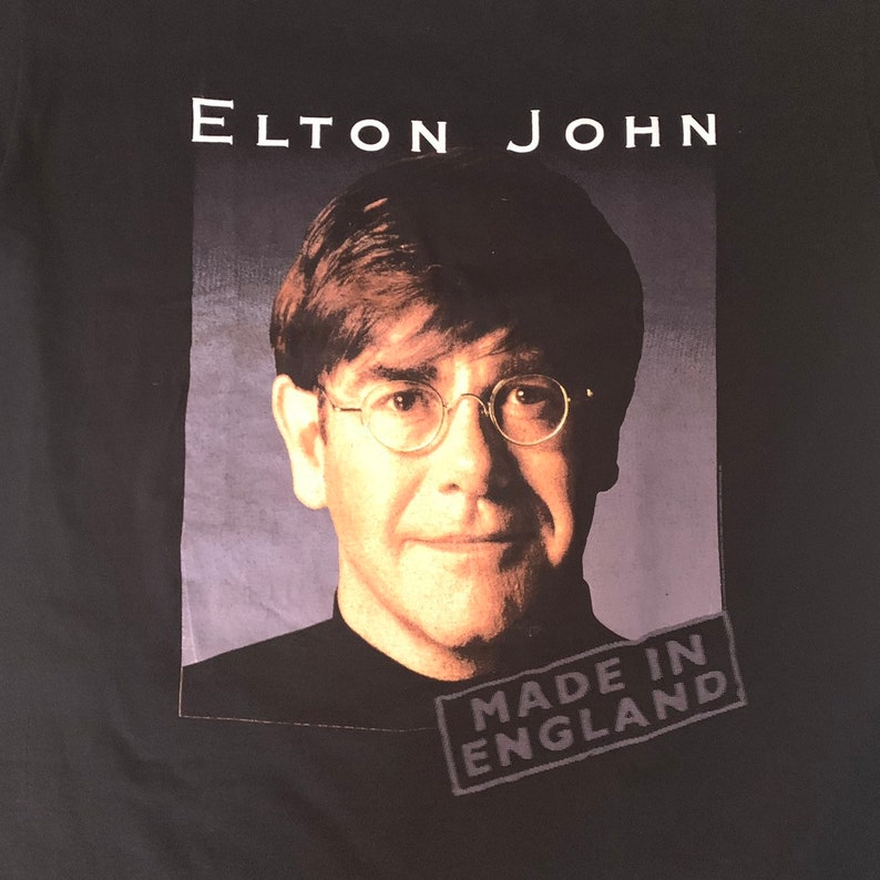 Very  Rare 1995 Vintage Elton John T Shirt XL