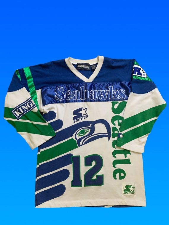 Very Rare 90s Vintage Seattle Seahawks Starter Swe