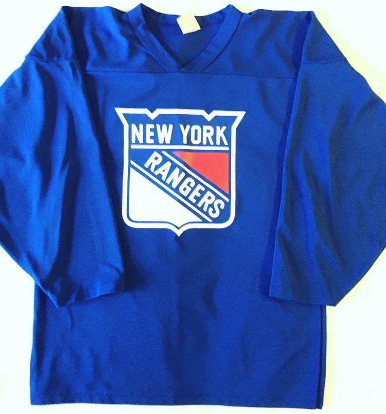 meet 50662 b2f56 Rare !!!! Vintage New York Rangers Hockey Jersey