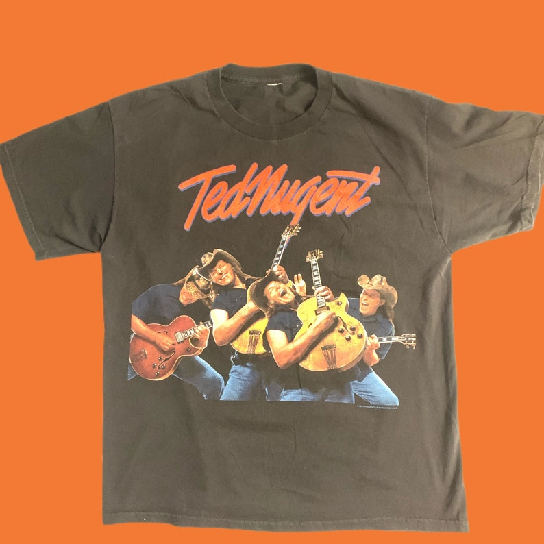 XL Original Vintage Ted Nugent All Over Print  Double Sided T Shirt