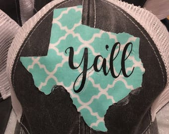 Texas Y'all trucker hat