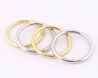 Webbing 20pcs O Rings Round Rings Wire Formed Rings Purse Ring Bag Making Hardware Supplies For 1/'/' inch 25mm