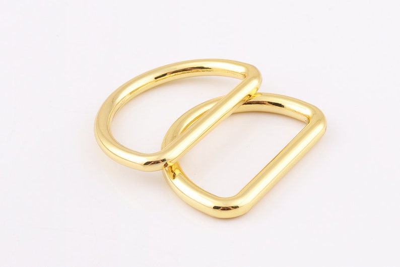 D Ring buckles Metal D rings for Bag Belt Strap Webbing purse hardware High Quality 31mm Gold D Rings 118inch