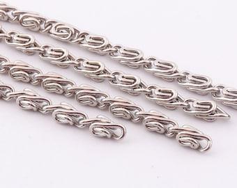 Twisted chains 4mm(w) silver chain bulk Chain Twist chain Jewelry Making Chains