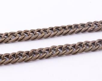 Bronze Chain Bulk 6mm(w)*10mm(l) twist chain Links Chain flat cable chain Bulk Chain Jewelry Making Chain