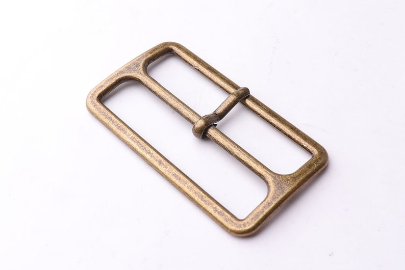 Bronze pin buckle Center Bar Buckle 6pcs 50mm Slide Buckle suspender adjustable slide buckle slide adjusters Movable Center Bar high quality