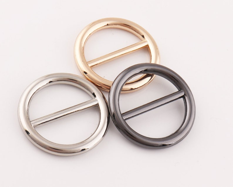 Circular Buckle Strap Buckles  Belt Buckle Adjuster buckle Round Metal Slide Buckle adjuster slide buckle for bags fingdings 4pcs