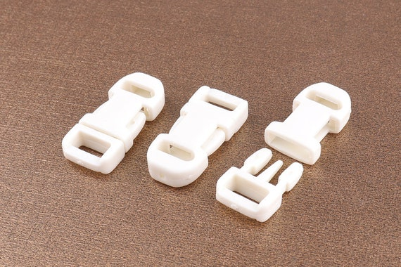 10pcs White SAFETY BREAK RELEASE CLIP,BAG CLASP STRAPPING  for Webbing 25mm