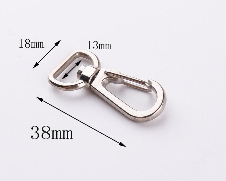 8pcs Sliver swivel clasps 18mm Swivel snap hook Metal clasp Trigger snap hooks purse hook key hook swivel hook