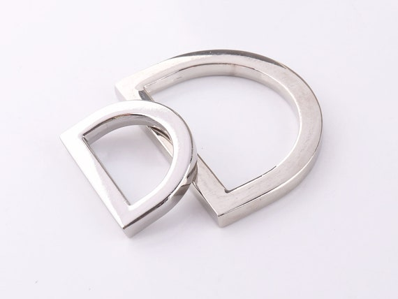 15 Pieces Metal D Ring Inner Width 50mm Non Welded Large Size D-Rings Metal Flat Alloy D Ring for Buckle Straps Bags Belt Black