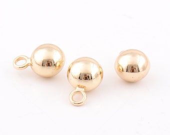 Ball charms gold ball pendant Charm pendants Ball Charms jewellery findings keyring keychain making