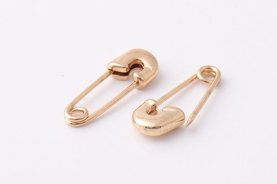 100pcs 20*8mm small Rose gold Color metal safety pins knitting tool garment