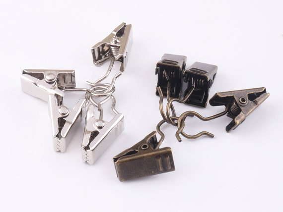 Bronze Alligator clips 20 pcs 18 mm Metal curtain clips Hair Accessories Spring Alligator clips Wholesale Clips with hook