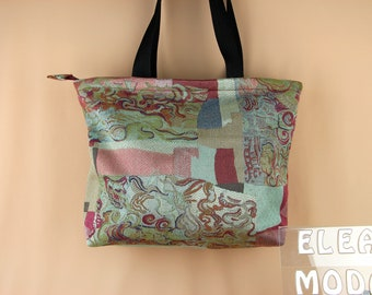 Rustic handmade bag in medieval style for winter and Christmas