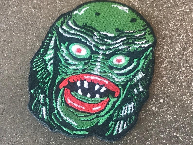 Fish Face Iron-On Patch / IronOn Swamp Thing Toxic Avenger image 0