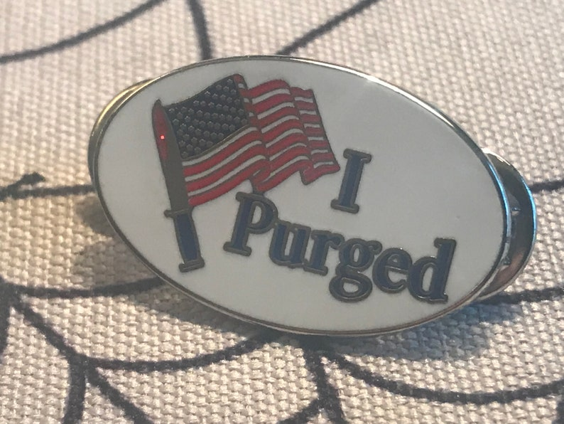 I purged enamel pin  election midterms democracy anarchy image 0