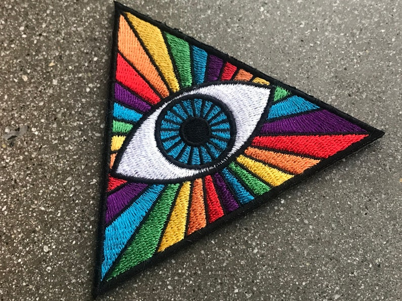 PRISMATIC THIRD EYE 3 Patch  Spectrum Rainbow Hipster image 0