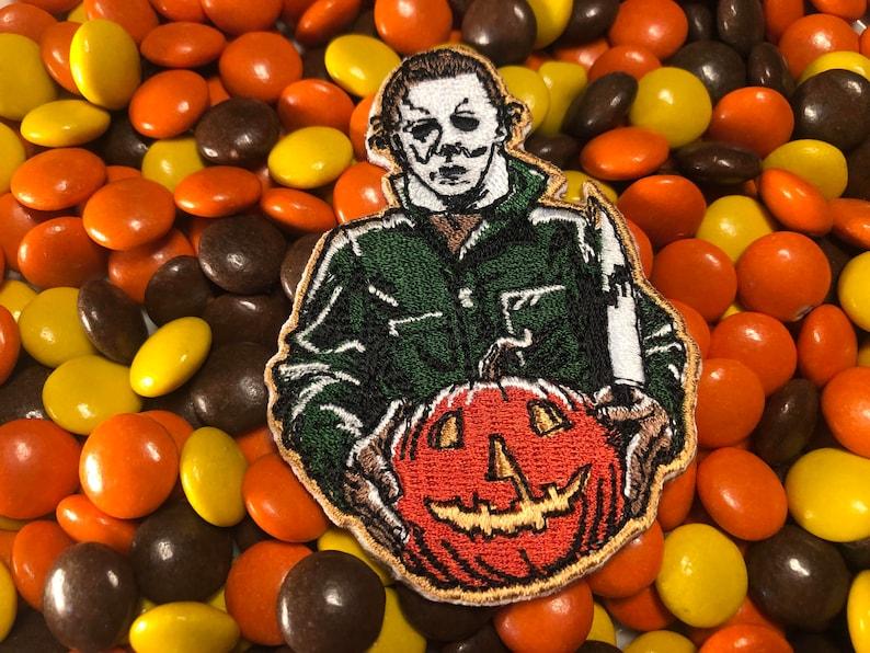 Michael Myers Jack o' Lantern Halloween Movie Iron-On image 0