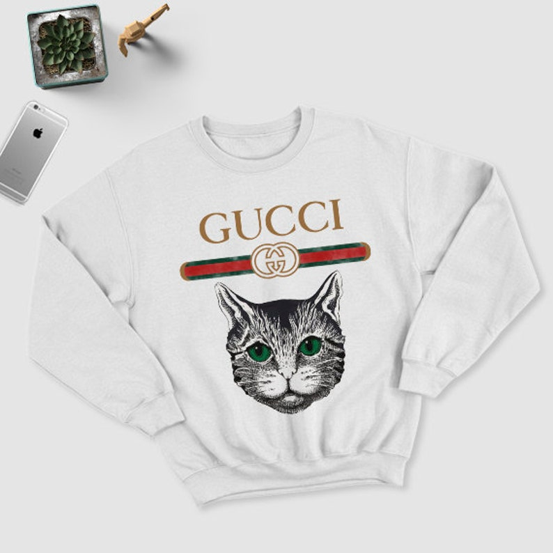 c1d7bf21fab0 Gucci mystic cat inspired Youth & Unisex adults sweatshirt | Etsy