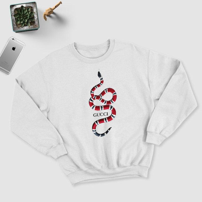 eb28e7dc3 Gucci inspired Youth & Unisex adults Sweathirt Gucci snake | Etsy