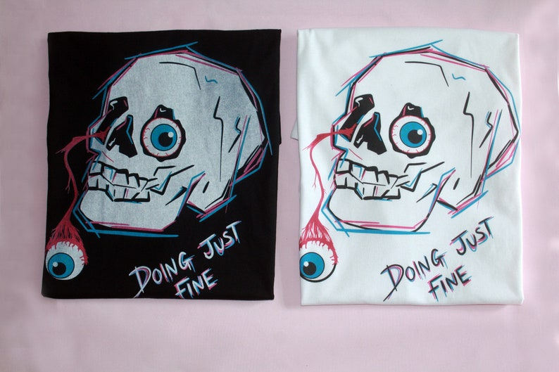 Doing Just Fine Organic Cotton Skull T-Shirt