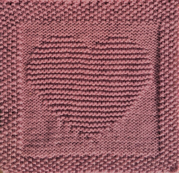 Knitting Pattern For Heart Washcloth Or Afghan Square Etsy
