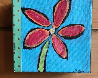 Mixed Media Flower Collage