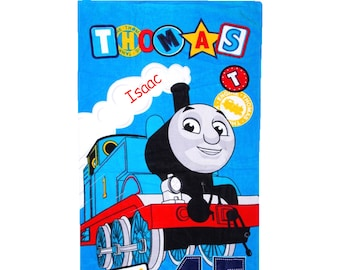 Personalised Thomas & Friends No.1 Engine Large Cotton Beach Towel // Children's Gifts // Character Gifts // Holiday Essentials