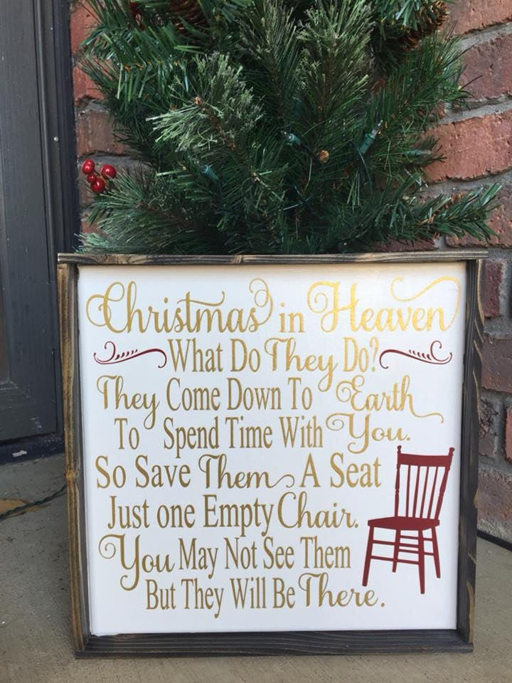 christmas in heaven canvas christmas heaven framed canvas farmhouse christmas remembering loved ones memorial gift