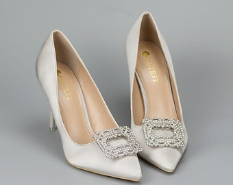 Rhinestone Shoe Clips   Bride Shoes   Wedding Shoes   Bridesmaid shoes-RSC01 eb87e33877e7