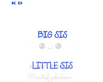 cookie Stencil big sis little sis