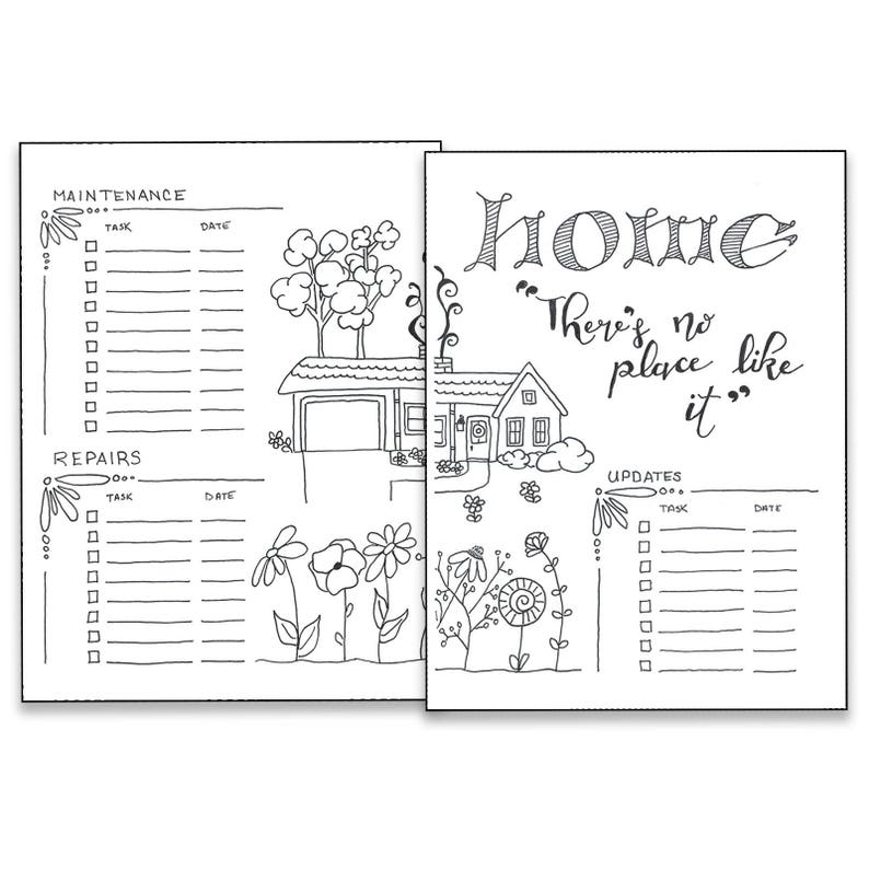 photograph about Bullet Journal Printable Pages titled Household - Bullet Magazine Printable Internet pages