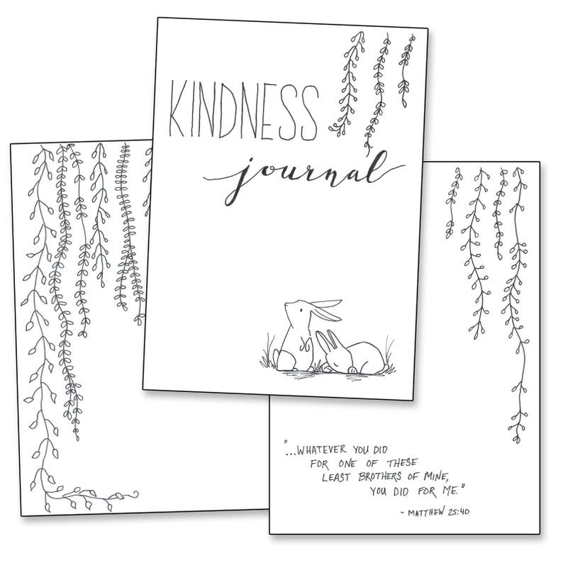 picture relating to Bullet Journal Printable Pages titled Kindness Magazine - Bullet Magazine Printable Web pages