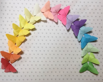 Pack of 10, 20, 50 or 100 color butterflies (single or multicolor)