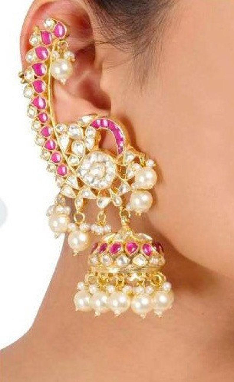 Kundan Earrings kaanphool