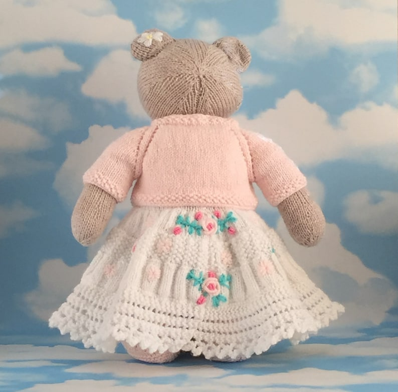 the perfect gift for babies and young children. Handmade unique toy Knitted teddy bear