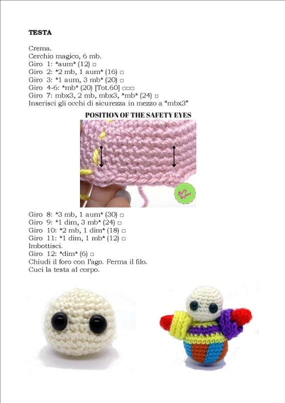 Free circus clown Amigurumi crochet pattern (Free Amigurumi ... | 806x570