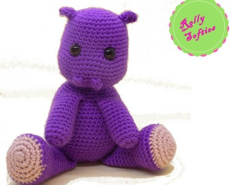 Crochet Pattern Amigurumi, Hippo amigurumi pattern, amigurumi animal pattern, PDF pattern