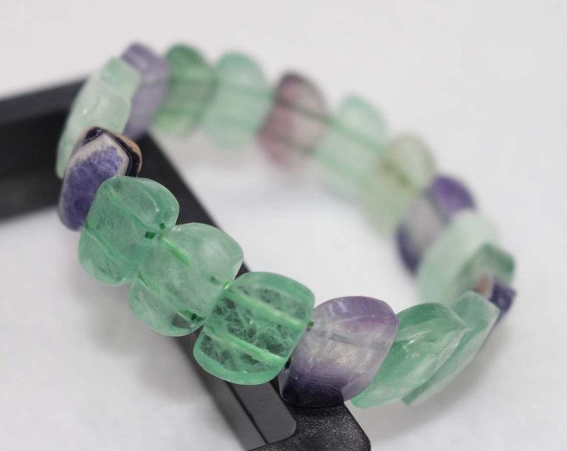 Natural Rainbow Fluorite Beads Bracelet,Rainbow Fluorite Bracelet,Beads Bracelet Supply,Jewelry Bracelet,Bracelet wholesale