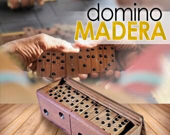 Domino in handmade wood 28 pieces