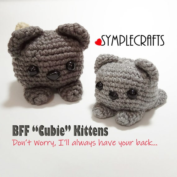 Set Of Two Grey Crochet Kittens Cube Shaped Amigurumi Cats Christmas And Birthday Gift Ideas For Best Friends Cute Wedding Gift For Couples
