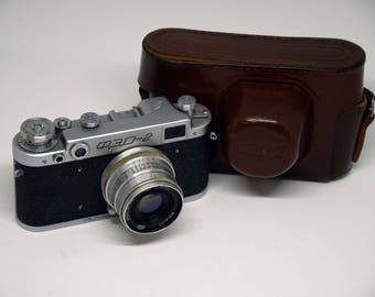 Vintage Camera FED 2 camera + Industar-26m f2.8/52