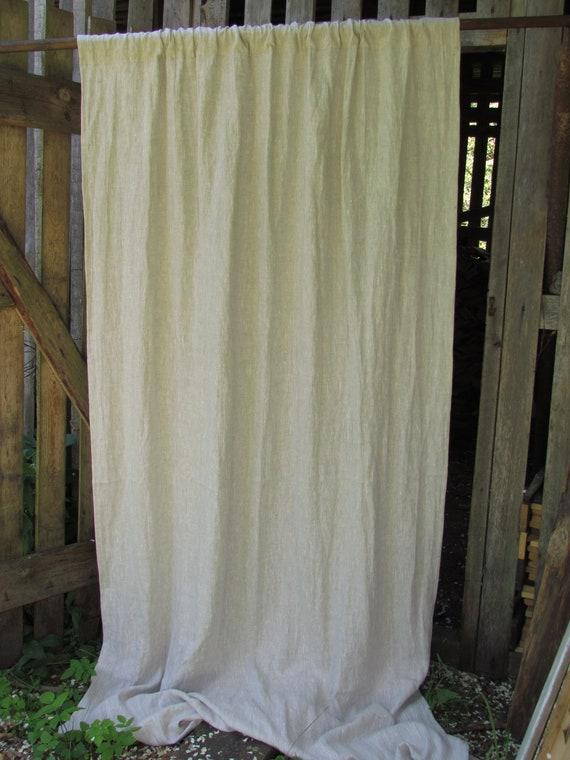 Luxe grijs linnen gordijn mooie 100% flax linnen gordijnen   Etsy