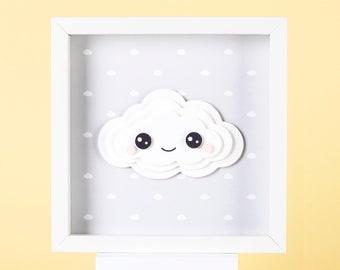 3D Framed Grey Cloud