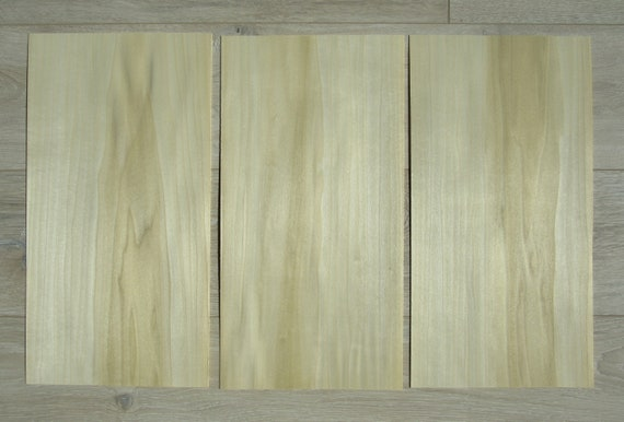 "46 x 22 cm 0.6 mm ~1//42 Poplar wood veneer ~18.1 x 8.66/"" 4 veneer sheets"